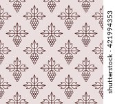 seamless pattern with grape... | Shutterstock .eps vector #421994353