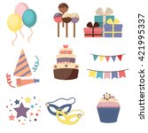 celebration party carnival... | Shutterstock .eps vector #421995337