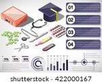 illustration of infographic... | Shutterstock .eps vector #422000167