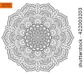 outline mandala for coloring... | Shutterstock .eps vector #422003203