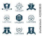 vector vintage lawyer logotypes ... | Shutterstock .eps vector #422003833