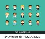 pixel art 8 bit business people ... | Shutterstock .eps vector #422005327