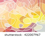abstract geometric mosaic... | Shutterstock .eps vector #422007967