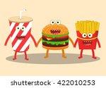 cartoon image of hamburger ...   Shutterstock .eps vector #422010253