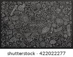 line art chalkboard vector hand ... | Shutterstock .eps vector #422022277