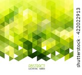 abstract vector green... | Shutterstock .eps vector #422022913
