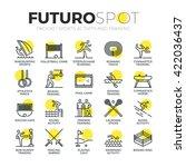 Stroke Line Icons Set Of Sport...