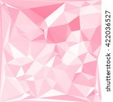 pink polygonal mosaic... | Shutterstock .eps vector #422036527