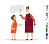 the teacher and student. a... | Shutterstock .eps vector #422046223