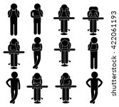 stick figure of man   people... | Shutterstock .eps vector #422061193
