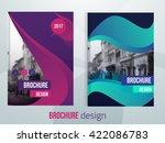 set of vector brochure cover...   Shutterstock .eps vector #422086783