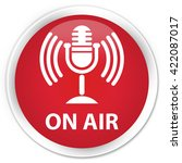 on air  mic icon  red glossy... | Shutterstock . vector #422087017
