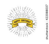 happy birthday  flat design... | Shutterstock .eps vector #422088037