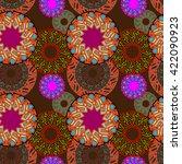 abstract decorative vector... | Shutterstock .eps vector #422090923