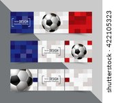 set of banners for euro 2016... | Shutterstock .eps vector #422105323