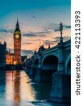 big ben clock tower and... | Shutterstock . vector #422113393
