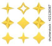 Set Of Nine Different Golden...