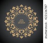 circular baroque pattern. round ... | Shutterstock .eps vector #422136787