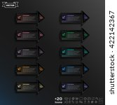 vector infographic design list...   Shutterstock .eps vector #422142367