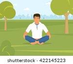 flat illustration of calm... | Shutterstock .eps vector #422145223
