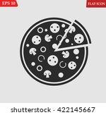 pizza icon.vector illustration | Shutterstock .eps vector #422145667