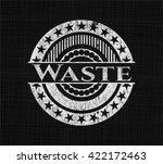 waste chalkboard emblem | Shutterstock .eps vector #422172463