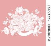 vector pastel floral seamless... | Shutterstock .eps vector #422177917
