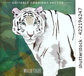 wild cats. white tiger | Shutterstock .eps vector #422196247