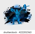 weightlifting | Shutterstock .eps vector #422201563