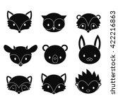 set of cartoon woodland animals ... | Shutterstock .eps vector #422216863