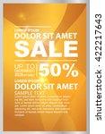 big sale  beauty cosmetics sale ... | Shutterstock .eps vector #422217643