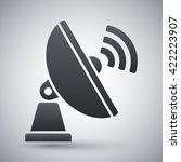 satellite antenna simple icon... | Shutterstock .eps vector #422223907