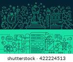 illustration of vector modern... | Shutterstock .eps vector #422224513