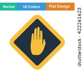 flat design icon of warning...