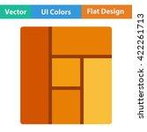 flat design icon of parquet...