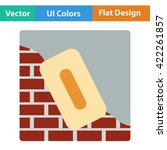 flat design icon of plastered...