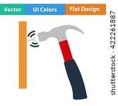 flat design icon of hammer beat ...