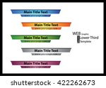 web   graphic lower third ... | Shutterstock .eps vector #422262673