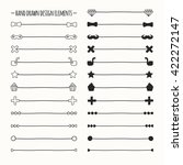 hand drawn  line border set and ... | Shutterstock . vector #422272147