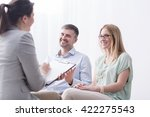 psychotherapist filling in... | Shutterstock . vector #422275543
