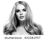beautiful woman face close up... | Shutterstock . vector #422281957