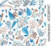 seamless watercolor pattern... | Shutterstock . vector #422289547