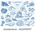 vegetable menu  garlic ...   Shutterstock .eps vector #422293957