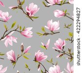 floral graphic design. magnolia ... | Shutterstock .eps vector #422294827