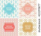 set of vintage frames in blue ... | Shutterstock .eps vector #422295877