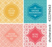 set of vintage frames in yellow ... | Shutterstock .eps vector #422296063