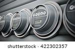 gray electric meters standing... | Shutterstock . vector #422302357