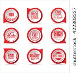 modern sale stickers collection | Shutterstock .eps vector #422303227