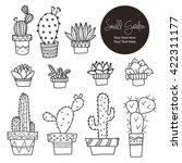 small plants and cactus hand... | Shutterstock .eps vector #422311177