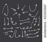 doodle arrow set | Shutterstock .eps vector #422323267